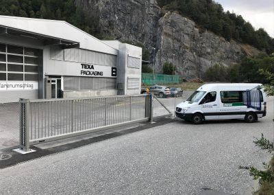 Fremd Montage Stahltor Firma Texa Haldenstein