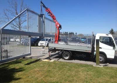 Schnelllauftor Megitt Fribourg Parkplatz 1