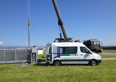 Service Flughafen Payern Swiss Army Teleskope Tor 45 Meter