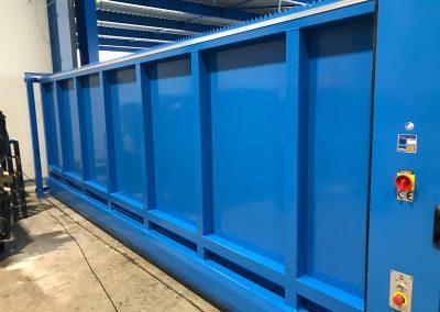 Fremd Montage Stahltor mit Füllung Stadler Rail Wintertuhr