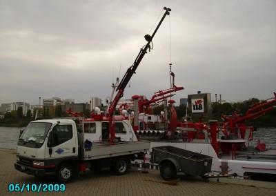 Demontage Rhein Basel